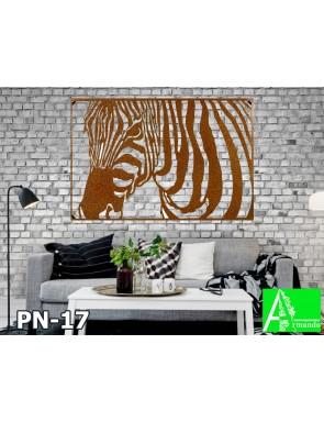 PN-17  Резная 2д картина из МДФ   Зебра в стиле Сафари