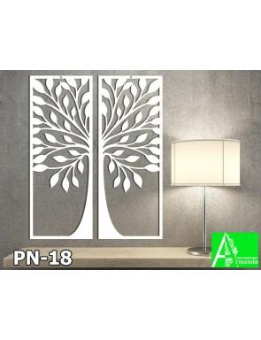 PN-18 Настенное резное панно Дерево счастья из МДФ в 2Д