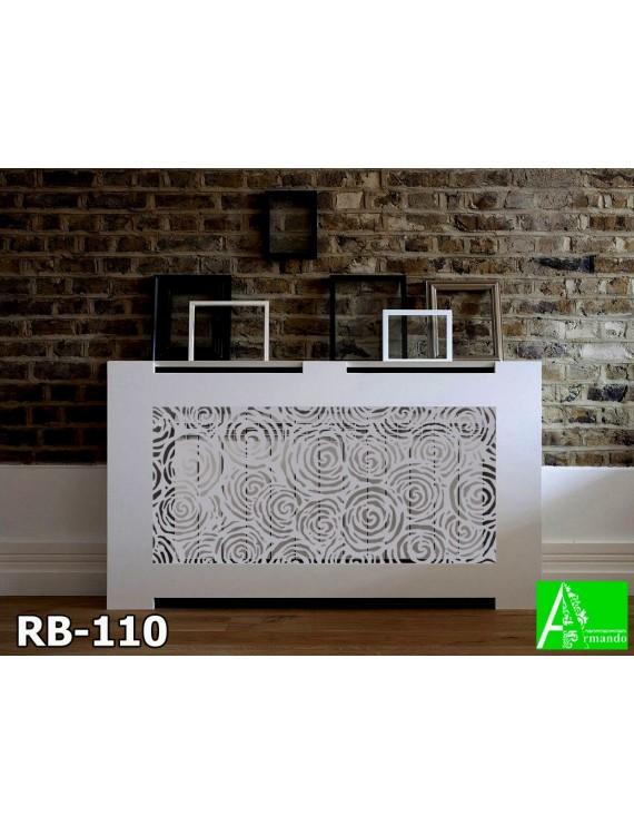 RB-110 Ажурный современный экран для батареи со стильным рисунком