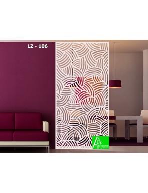 LZ-106 Перегородка для зонирования интерьера с растительным орнаментом